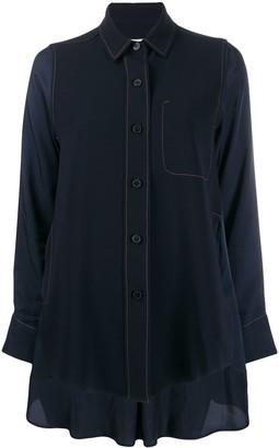 Alberto Biani Crepe-Panelled Satin Shirt