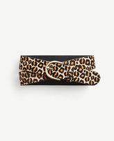 Ann Taylor Wide Leopard Print Haircalf Trouser Belt