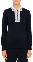 Claudie Pierlot Martine Lace Collar Knit