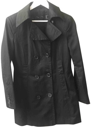 Sand Black Cotton Coat for Women