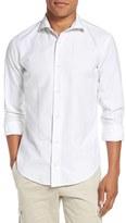 Eleventy Trim Fit Jacquard Sport Shirt