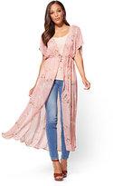 New York & Co. Long Kimono - Floral