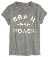 Peek 'Brain Power' Graphic Tee (Baby Girls)