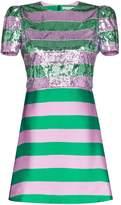 Mary Katrantzou sequin-embellished striped silk mini-dress