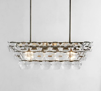 Pottery Barn Bowen Rectangular Crystal Chandelier
