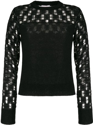 See by Chloe Embroidered Long-Sleeve Jumper