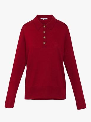 Gerard Darel Sacha Button Collar Jumper, Red