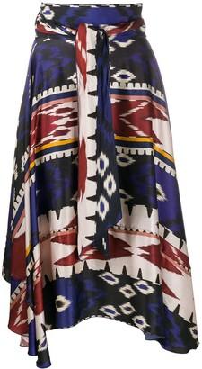 Forte Forte High Waisted Aztec Print Skirt