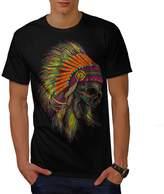 American Indian Skull Men XXXL T-shirt | Wellcoda