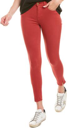 Frame Le High Washed Red Skinny Leg