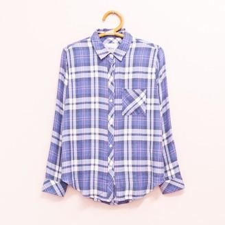Rails Checked Shirt - S   rayon   blue - Blue/Blue