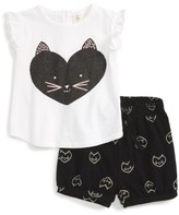 Tucker + Tate Infant Girl's Graphic Tee & Shorts Set