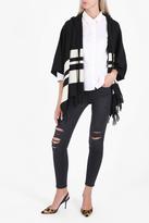 Frame Hooded Stripe Poncho