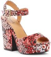 Qupid Gavin Floral Brocade Platform Sandal