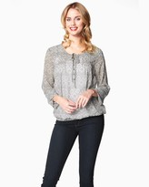 Charming charlie Split Neck Peasant Top