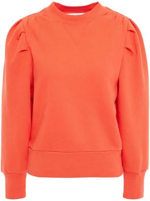 Frame Gathered Cotton-blend Fleece Sweatshirt