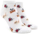 Forever 21 FOREVER 21+ Kitten Print Ankle Socks