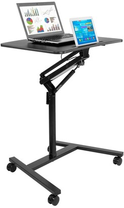 Mount-it Mount-It! Mobile Standing Laptop Desk with Wheels with Gas Spring Lift Mechanism - MI-7969