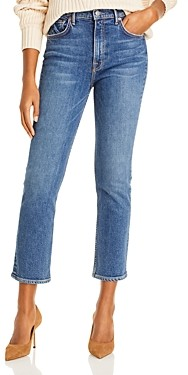 GRLFRND Reed Cropped Straight Leg Jeans in Sandblast