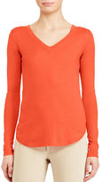 Lauren Ralph Lauren Silk-Blend V-Neck Sweater