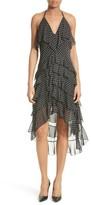 Alice + Olivia Women's Lorilee Chiffon High/low Halter Dress