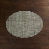 Crate & Barrel Chilewich ® Mini Basketweave Pistachio Oval Vinyl Placemat