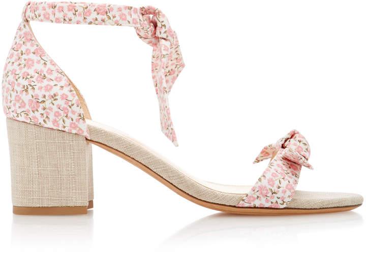 Alexandre Birman Clarita Floral-Print Canvas Sandals