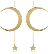 Roberto Cavalli Lucky Light Gold Tone Earrings