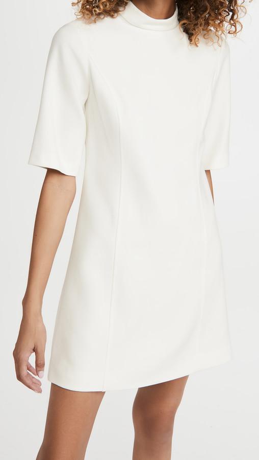 Alice + Olivia Coley Mock Neck A-Line Dress