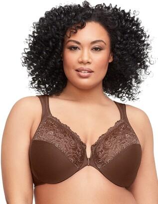 Glamorise Full Figure Plus Size Wonderwire Front Close Bra #1245