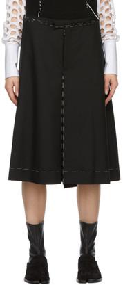 Maison Margiela Black Striped Tailoring Shorts