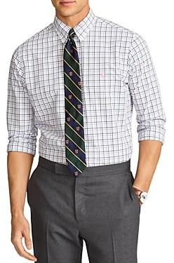 Polo Ralph Lauren Slim Fit Plaid Poplin Button Down Shirt