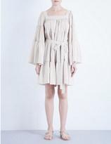 Lisa Marie Fernandez Striped seersucker peasant dress