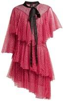 Romance Was Born Chrysalis Asymmetric Tiered Tulle Dress - Womens - Pink