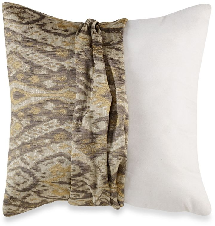 Bed Bath & Beyond Make Your Own Pillow Cover Set in Grey/Gold