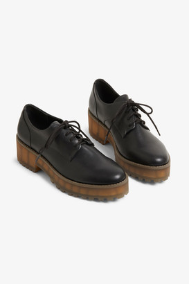 Monki Chunky heel derby shoes