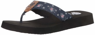 Yellow Box womens Flip Flop Fabric Flat Sandal