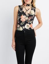 Charlotte Russe Strappy Choker Neck Top