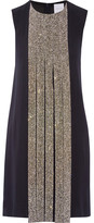Dion Lee Swarovski Crystal-embellished Silk-crepe Dress - Midnight blue