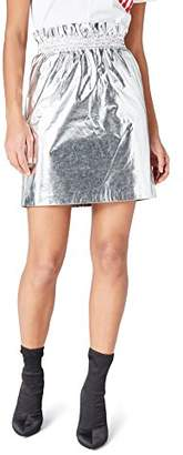 find. Women's Skirt in Metallic Fabric and Ruched Waistband A-line Style,(Manufacturer size: Large)