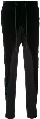 Greg Lauren Velvet Effect Skinny-Fit Trousers