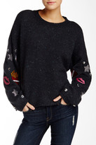 Wildfox Couture Dinner Party Embellished Patches Sweater