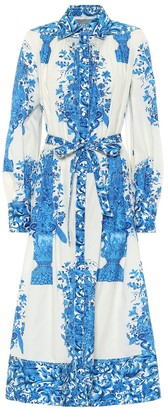 Valentino Printed cotton-poplin shirt dress