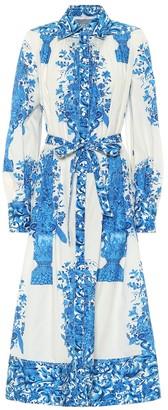 Valentino printed cotton-poplin shirt dress