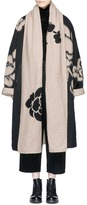 MS MIN Floral jacquard oversized wool blend felt coat