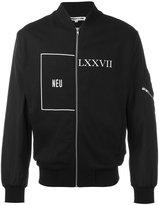 McQ by Alexander McQueen front zip print jacket
