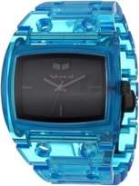 Vestal Women's DESP025 Destroyer Plastic Translucent Blue Watch