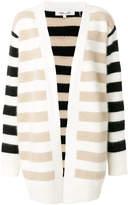 Diane von Furstenberg long sleeved striped cardigan