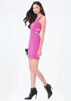 Bebe Cutout Plunge Neck Dress