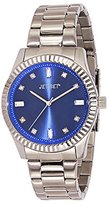 Jet Set J 59774-332 Cool Women's Quartz Analogue Watch with Silver, Blue Dial Steel Strap